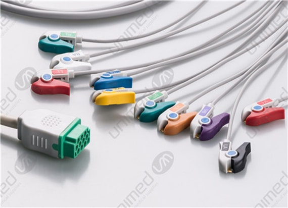 Disposable One Piece ECG Fixed Cable